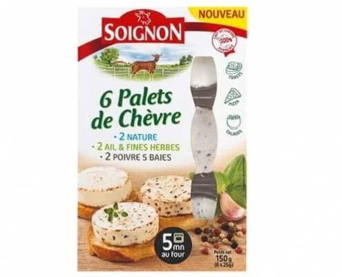 Soignon gedefriskost, 3 forskellige smage, i 6 nemme skiver 150 gram