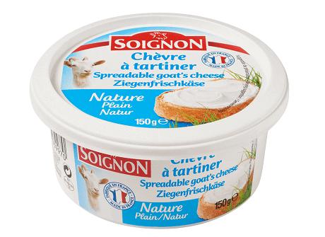 Soignon smøreost naturel 150 g