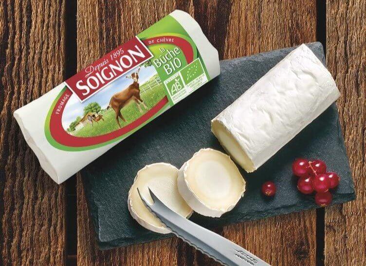 Lækker økologisk gedeost, Soignon gederulle